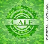 calf green emblem with mosaic... | Shutterstock .eps vector #1209836503