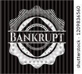 bankrupt silver shiny badge | Shutterstock .eps vector #1209836560