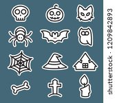 icon set halloween  flat style  ...   Shutterstock .eps vector #1209842893