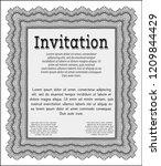 grey invitation template.... | Shutterstock .eps vector #1209844429