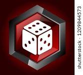 game dice casino bet dark red... | Shutterstock .eps vector #1209844573