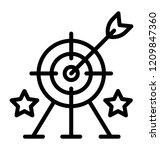 arrow on dartboard with stars... | Shutterstock .eps vector #1209847360