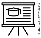 stand board with mortarboard...   Shutterstock .eps vector #1209847456