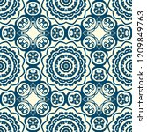 ornamental floral print with... | Shutterstock .eps vector #1209849763