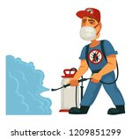 extermination or pest control... | Shutterstock .eps vector #1209851299