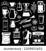 vector coffee grinder and... | Shutterstock .eps vector #1209851653