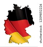 german map cut out  highly... | Shutterstock .eps vector #1209852226