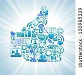 vector illustration of social...   Shutterstock .eps vector #120985339