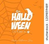 happy halloween party... | Shutterstock .eps vector #1209859489