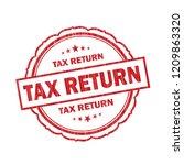 tax return grunge stamp on... | Shutterstock . vector #1209863320