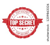 red top secret grunge stamp on... | Shutterstock . vector #1209863326