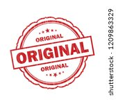 original grunge stamp on white... | Shutterstock . vector #1209863329