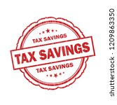tax savings grunge stamp on... | Shutterstock . vector #1209863350
