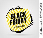 black friday sale inscription... | Shutterstock .eps vector #1209866413