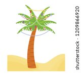 christmas palm tree icon with...   Shutterstock .eps vector #1209866920