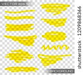 highlight brush underline hand... | Shutterstock .eps vector #1209868366