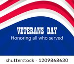 happy veterans day 11th of... | Shutterstock .eps vector #1209868630