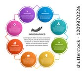 infographics template with 8...   Shutterstock .eps vector #1209870226