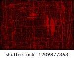 red grunge background. vintage... | Shutterstock . vector #1209877363