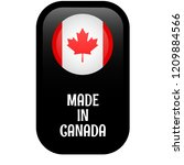 made in canada button. button... | Shutterstock .eps vector #1209884566