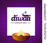 happy diwali background   Shutterstock .eps vector #1209884989