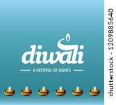 happy diwali creative design...   Shutterstock .eps vector #1209885640