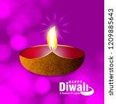 diwali design purple background ...   Shutterstock .eps vector #1209885643