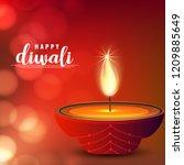 happy diwali creative design...   Shutterstock .eps vector #1209885649