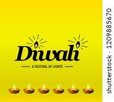 diwali design with yellow...   Shutterstock .eps vector #1209885670