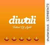 diwali design with yellow...   Shutterstock .eps vector #1209885673