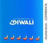 happy diwali creative design...   Shutterstock .eps vector #1209885676