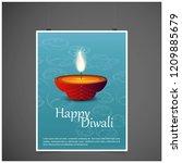 happy diwali creative design...   Shutterstock .eps vector #1209885679