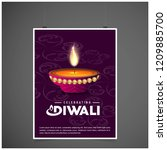 diwali design with purple...   Shutterstock .eps vector #1209885700