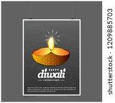 diwali design with dark...   Shutterstock .eps vector #1209885703