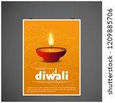 diwali design with yellow...   Shutterstock .eps vector #1209885706