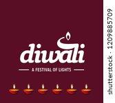 happy diwali creative design...   Shutterstock .eps vector #1209885709