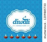 happy diwali creative design...   Shutterstock .eps vector #1209885733