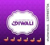 diwali design purple background ...   Shutterstock .eps vector #1209885736