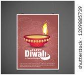 diwali design with pink...   Shutterstock .eps vector #1209885739