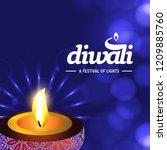 happy diwali creative design...   Shutterstock .eps vector #1209885760
