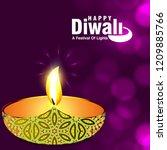 diwali design purple background ...   Shutterstock .eps vector #1209885766