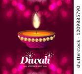 happy diwali creative design...   Shutterstock .eps vector #1209885790