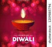 happy diwali creative design...   Shutterstock .eps vector #1209885796