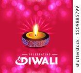 diwali design with pink...   Shutterstock .eps vector #1209885799