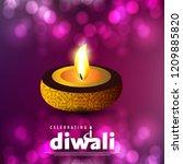 diwali design purple background ...   Shutterstock .eps vector #1209885820