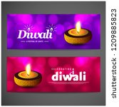 diwali design purple background ...   Shutterstock .eps vector #1209885823