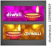 diwali design purple background ...   Shutterstock .eps vector #1209885829