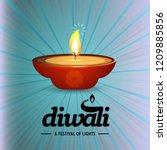 happy diwali creative design...   Shutterstock .eps vector #1209885856