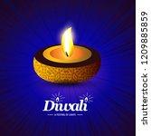 happy diwali creative design...   Shutterstock .eps vector #1209885859