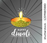 diwali design with dark...   Shutterstock .eps vector #1209885880